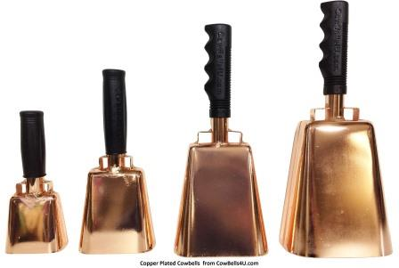 Copper Plated CowBells4U.com